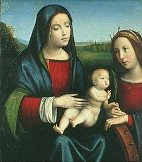 Francesco (Raibolini) Francia: Madonna mit Kind und der Hl. Katharina von Alexandrien