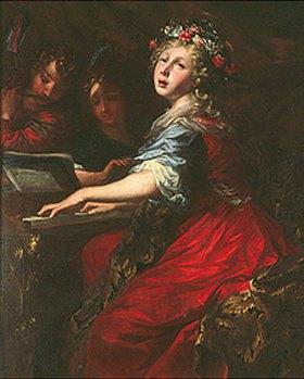 Pietro Dandini: Die Hl. Cecilia am Spinett