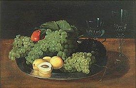 17. Jahrhundert) Anonym (Deutsch: Stillleben mit Weintrauben
