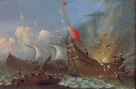 Pietro (Lo Smargiasso) Ciafferi: Bildnis einer Schiffs-Explosion