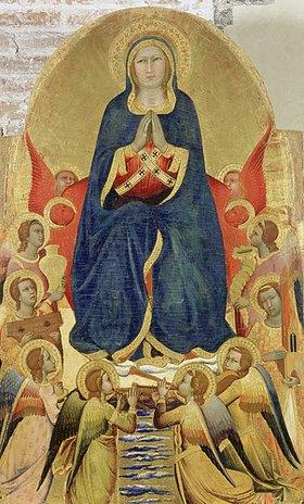 Antonio di Francesco: Himmelfahrt Mariae, umgeben von acht Engeln