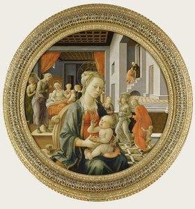 Fra Filippo Lippi: Madonna mit dem Kind und Szenen aus dem Leben der Hl. Jungfr