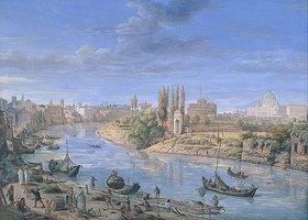 Gaspar Adriaens van Wittel: Ansicht von Rom mit dem Tiber