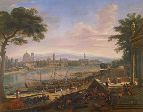 Gaspar Adriaens van Wittel: Ansicht von Florenz mit Pignone