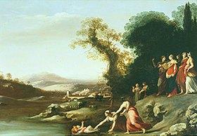 Cornelis Poelenburgh: Die Auffindung des Mosesknaben