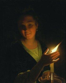 Godfried Schalcken: Junge Frau mit brennender Kerze