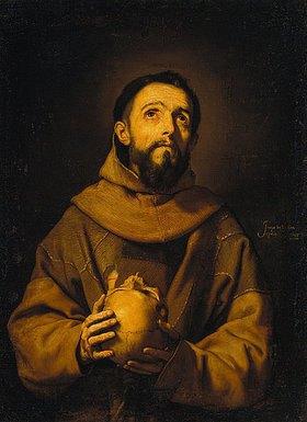 Jusepe de Ribera: Der Hl. Franziskus mit einem Totenkopf