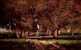 Mihály Munkácsy: Allee in Colpach