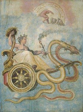 Giorgio Vasari: Der Wagen der Ceres (Göttin des Ackerbaus)