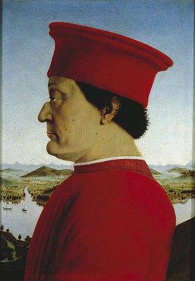 Piero della Francesca: Federico da Montefeltro, Bildnis