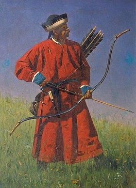 Wassili Werestschagin: Bogenschütze aus Buchara (Sarbaz)