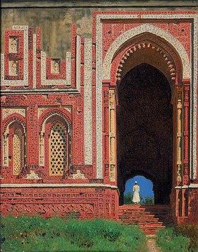 Wassili Werestschagin: Eingangstor am Kutub-Minar in Alt-Delhi