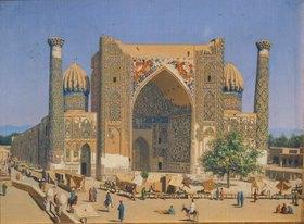 Wassili Werestschagin: Die Medrese Shir-Dhor am Registan Palast in Samarkand