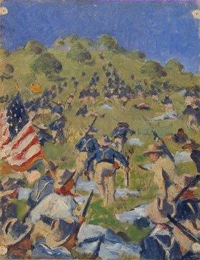 Wassili Werestschagin: Theodore Roosevelt bei der Erstürmung der Saint-Juan-Höhen