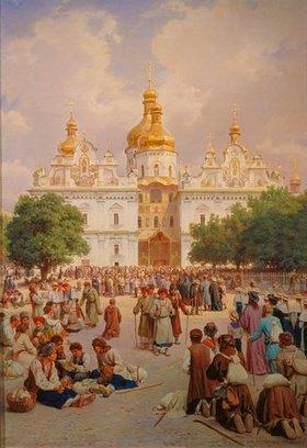 Wassili Werestschagin: Die große Kievo-Pecherskaja-Kirche in Kiew