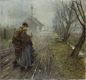 Fritz von Uhde: Schwerer Gang (Der Gang nach Bethlehem)