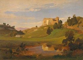 Eduard Wilhelm Pose: Italienische Landschaft mit breitem Tal