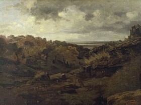 Jean-Baptiste Camille Corot: Italienische Landschaft bei Marino im Herbst