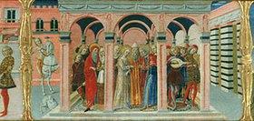 Benvenuto di Giovanni: Die Vermählung von Maria und Josef
