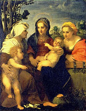 Andrea del (Andrea d'Agnolo) Sarto: Madonna mit den Hll. Katharina, Elisabeth und dem Johannesknaben