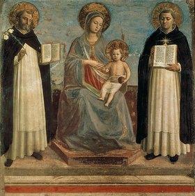 Fra Angelico: Die Madonna mit Kind und den Hll. Dominikus und Thomas von Aquin