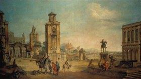 Francesco Battaglioli: Platz einer Stadt. Ausgeführt zusammen mit Francesco Zugno (1709-1787)