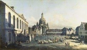 Bernardo (Canaletto) Bellotto: Der Neue Markt in Dresden