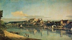 Bernardo (Canaletto) Bellotto: Blick auf Pirna vom rechten Ufer der Elbe aus gesehen