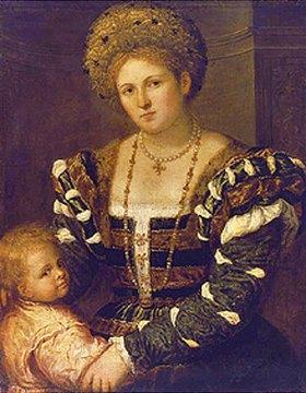 Paris Bordone: Bildnis einer Frau mit einem Jungen