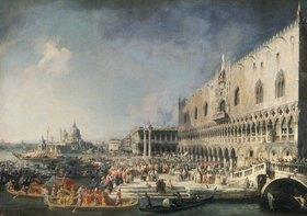 Canaletto (Giov.Antonio Canal): Der Empfang des französischen Gesandten in Venedig