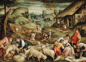 Bassano (Francesco da Ponte): Die Schafschur (Der Sommer)