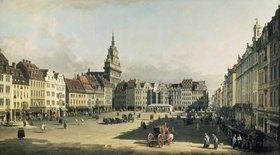 Bernardo (Canaletto) Bellotto: Der Alte Markt in Dresden