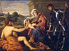 Paris Bordone: Madonna mit den Hll. Johannes d. Täufer und Georg