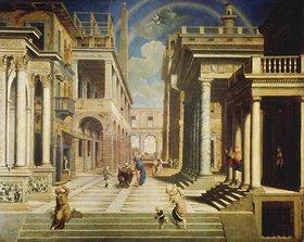 Paris Bordone: Die Seherin Sybille erscheint dem Caesar Augustus