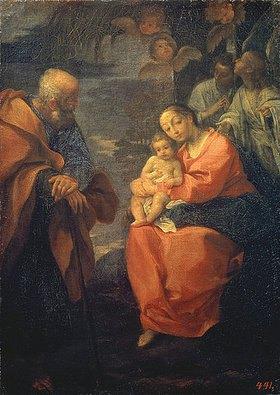 Lodovico Carracci: Die Heilige Familie (unter einer Palme)