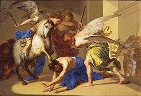 Bernardo Cavallino: Die Vertreibung des Iliodorus aus dem Tempel