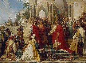 Arthur Georg Frhr.v Ramberg: Der Hof des Kaisers Friedrich II. zu Palermo. (Entstanden zw.1860 und 1866)