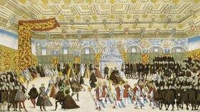 Nikolaus Solis: Vermählung Wilhelms V.von Bayern mit Renate von Lothringen, 1568. Tanz und