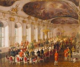 Fritz L´Allemand: Galadiner im Schloß Schönbrunn
