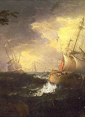 Leonardo Coccorante: Stürmische See (Detail)