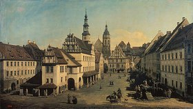Bernardo (Canaletto) Bellotto: Der Marktplatz in Pirna