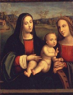 Francesco (Raibolini) Francia: Madonna mit Kind und einer Heiligen