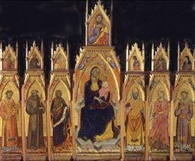 Francesco D´Antonio de Ancona: Madonna mit dem Kind, Christus und sechs Heiligen
