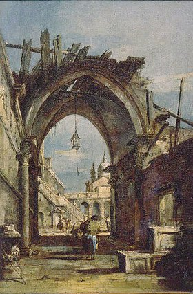 Francesco Guardi: Tordurchblick in Venedig