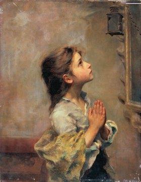 Roberto Ferruzzi: Betendes Mädchen