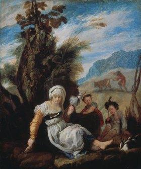 Domenico Fet(t)i: Adam und Eva nach der Vertreibung aus dem Paradies