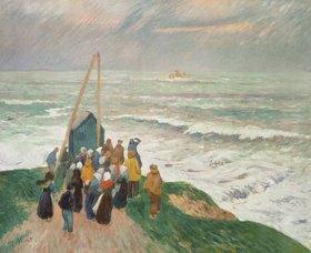 Henri Moret: In Erwartung der Fischer (Bretagne)
