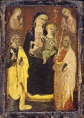 Meister d.San Jacopo a Mucciana: Madonna auf dem Thron mit den Hll. Peter und Paul