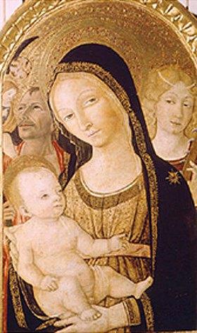 Giovanni di Bartolo Matteo: Madonna mit den Hll. Katharina und Christophorus