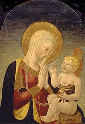 Neri di Bicci: Maria mit dem Kind und dem Granatapfel